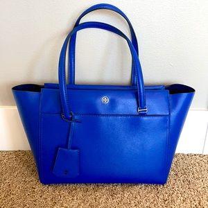 Tory Burch Parker Cobalt Blue Tote Bag